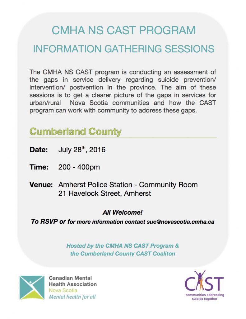 Cumberland County Cast Program Information Gathering Session Nova