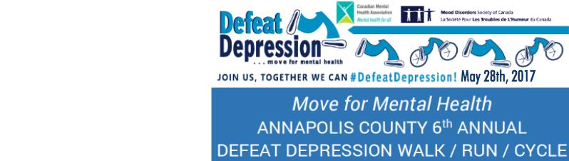Annapolis County 6th Annual Defeat Depression Walk/Run/Bike