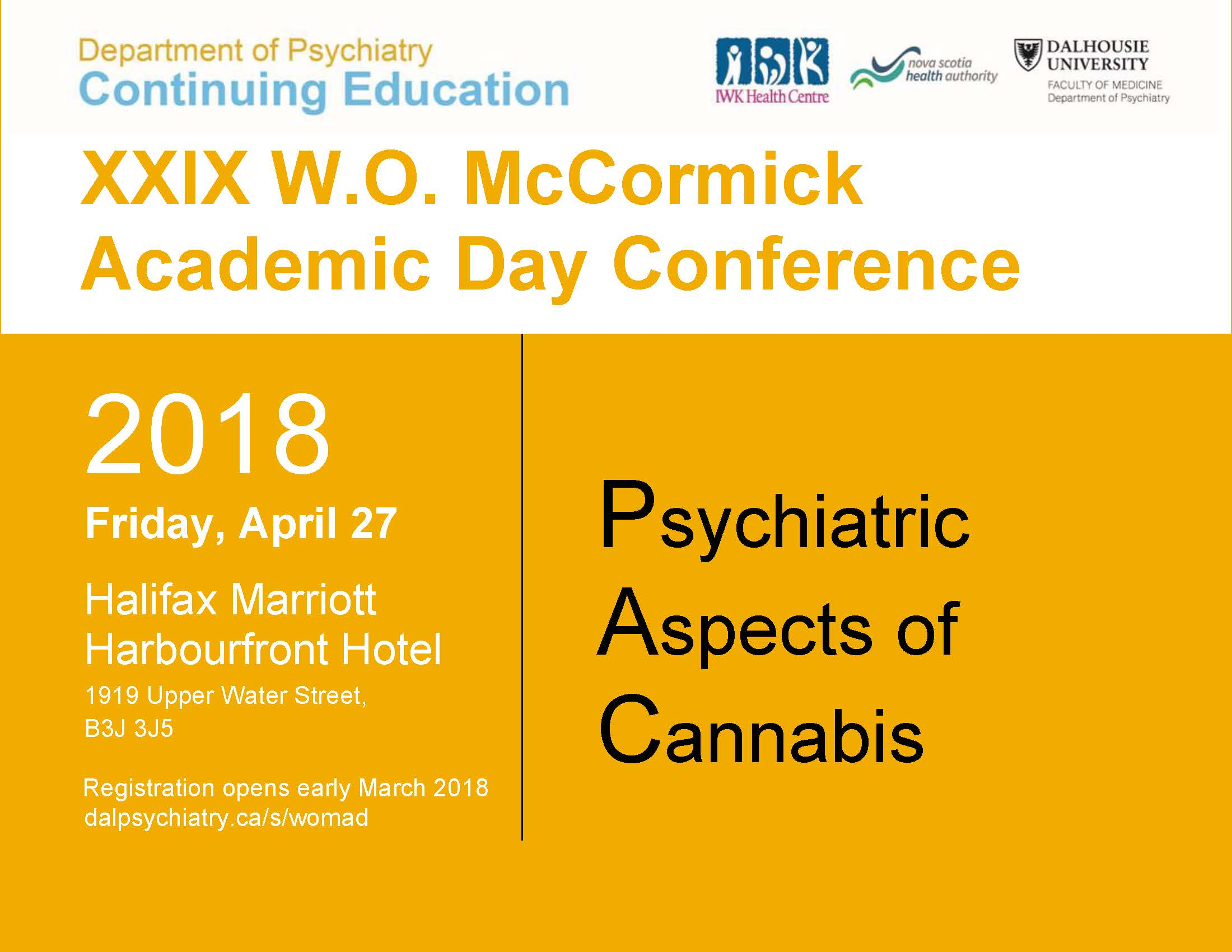 XXIX W.O. McCormick Academic Day Conference