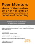 Eating Disorders Nova Scotia is looking for Peer Mentors! Apply by February 25.
