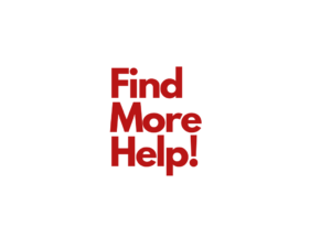 Find More Help Toggle